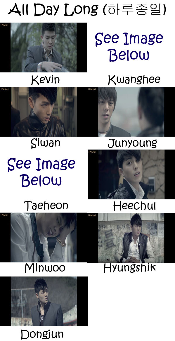 "The members of ZE:A in the ""All Day Long"" MV"