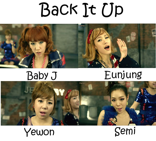 "The members of Jewelry in the ""Back It Up"" MV"