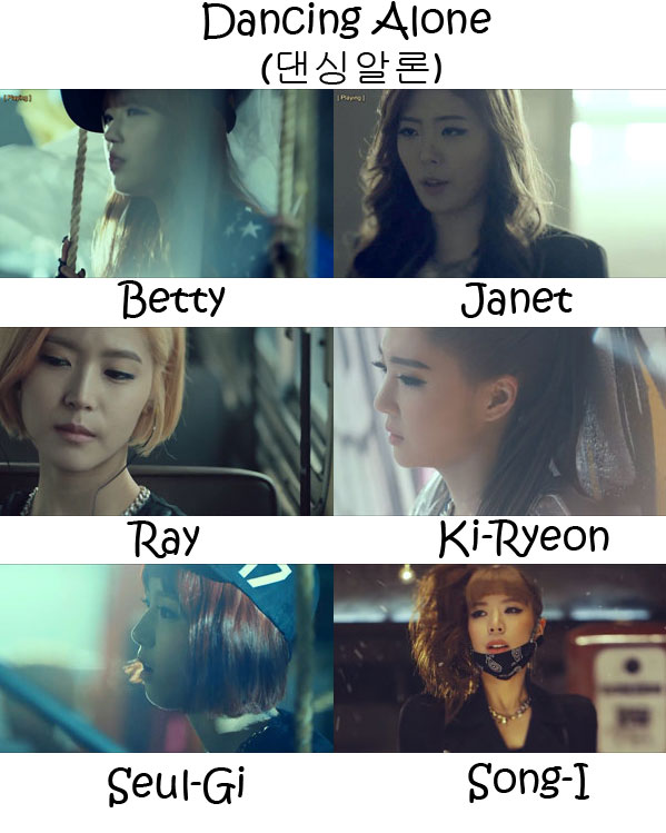 "The members of Billion in the ""Dancing Alone"" MV"