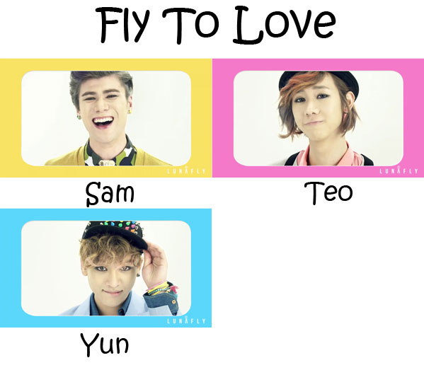 "The members of Lunafly in the ""Fly To Love"" MV"