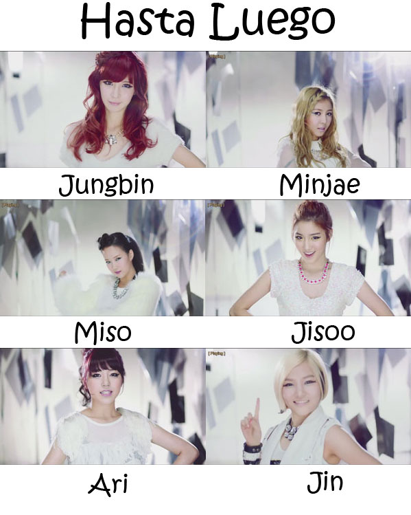 "The members of Tahiti in the ""Hasta Luego"" MV"