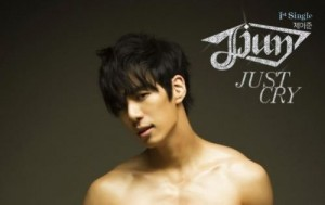 "Album art for JJun's album ""Just Cry"""