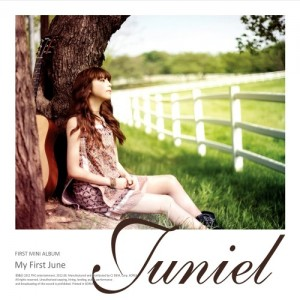 "Album art for Juniel's album ""My First June"""