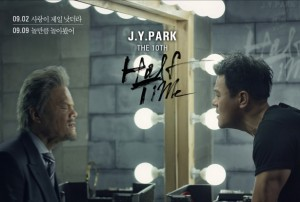 "Album art for JYP's album ""Half Time"""