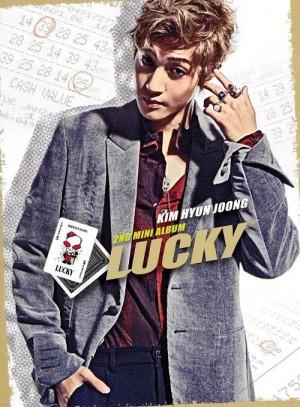 """Album art for Kim Hyun Joong's album """"Lucky"""""""