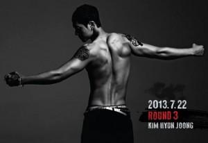 "Album art for Kim Hyun Joong's album ""Round 3"""