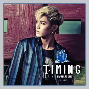 "Album art for Kim Hyun Joong's album ""Timing"""