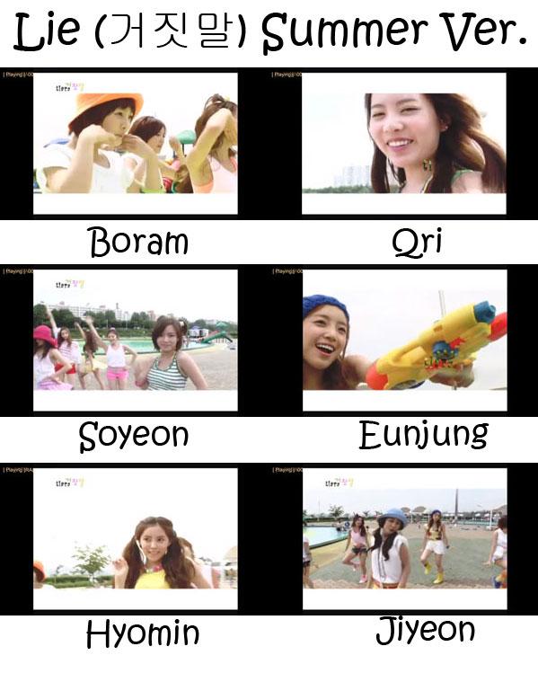 """The members of T-Ara in the """"Lie Pt. 2 (Summer Ver.)"""" MV"""