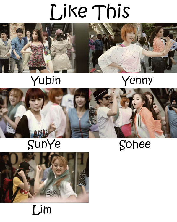 "The members of Wonder Girls in the ""Like This"" MV"