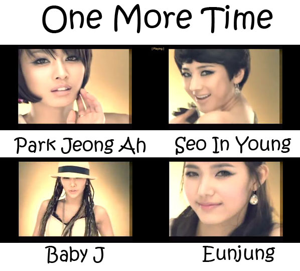 "The members of Jewelry in the ""One More Time"" MV"