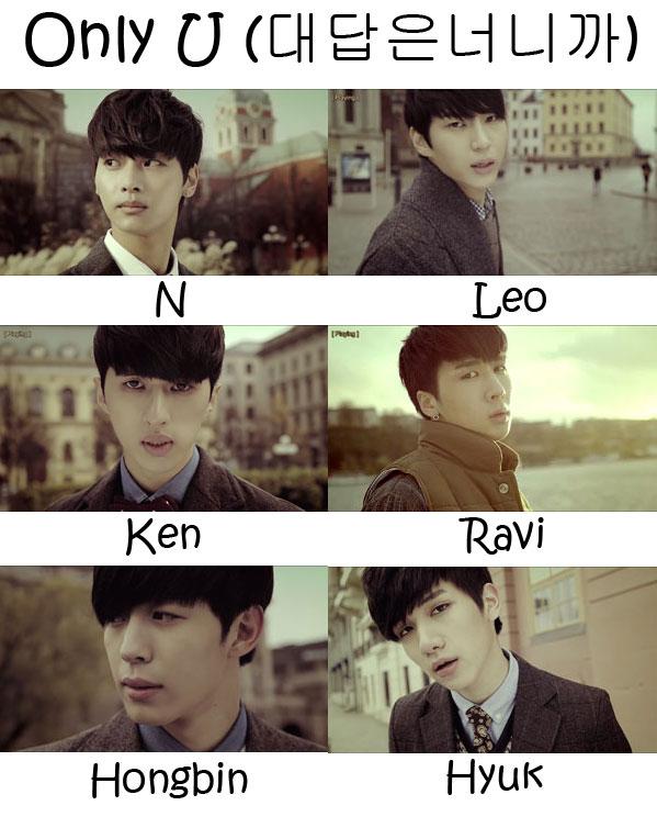 VIXX Only U Who's Who | KpopInfo114