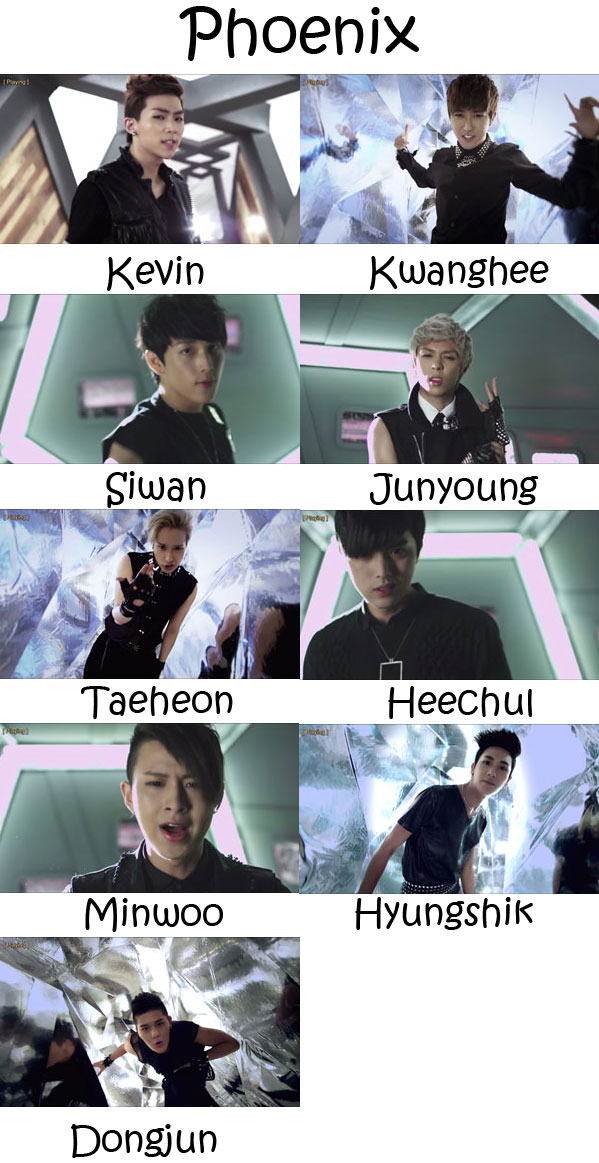"The members of ZE:A (Children Of Empire) in the ""Phoenix"" MV"
