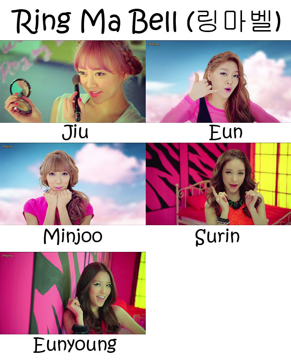 "The members of Two-X in the ""Ring Ma Bell"" MV"