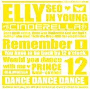 "Album art for Seo In Young/Elly's album ""Elly Is Cinderella"""