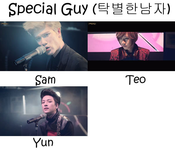 "The members of Lunafly in the ""Special Guy"" MV"