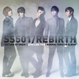 """Album art for SS501's album """"Rebirth"""""""