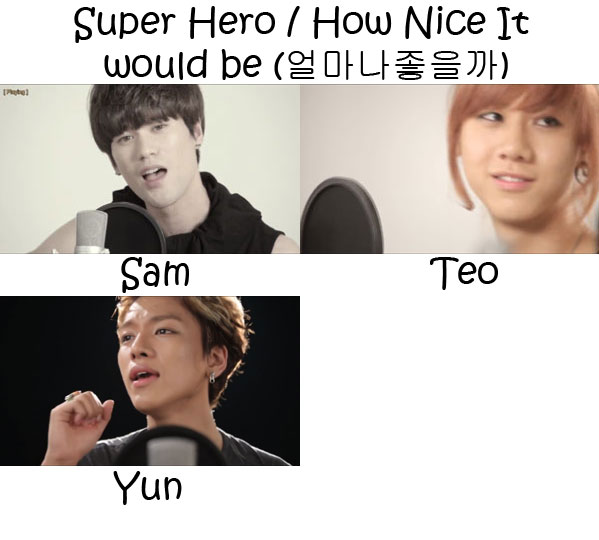 "The members of Lunafly in the ""Super Hero / How Nice It Would Be"" MV"