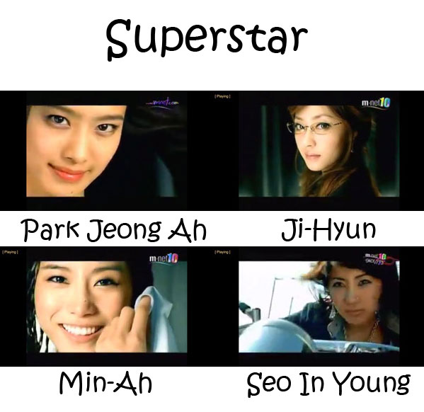 "The members of Jewelry in the ""Superstar"" MV"