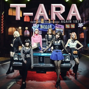 "Album art for T-Ara's album ""Again 1977"""
