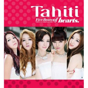 "Album art for Tahiti's album ""Five Beats Of Hearts"""