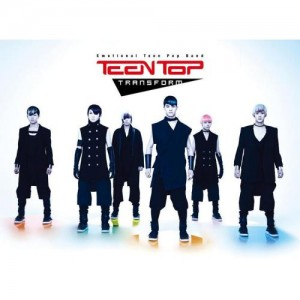 "Album art for Teen Top's album ""Transfrom"""