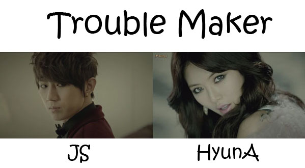"The members of Trouble Maker in the ""Troublemaker"" MV"