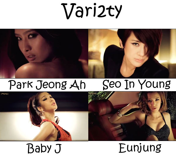 "The members of Jewelry in the ""Vari2ty"" MV"
