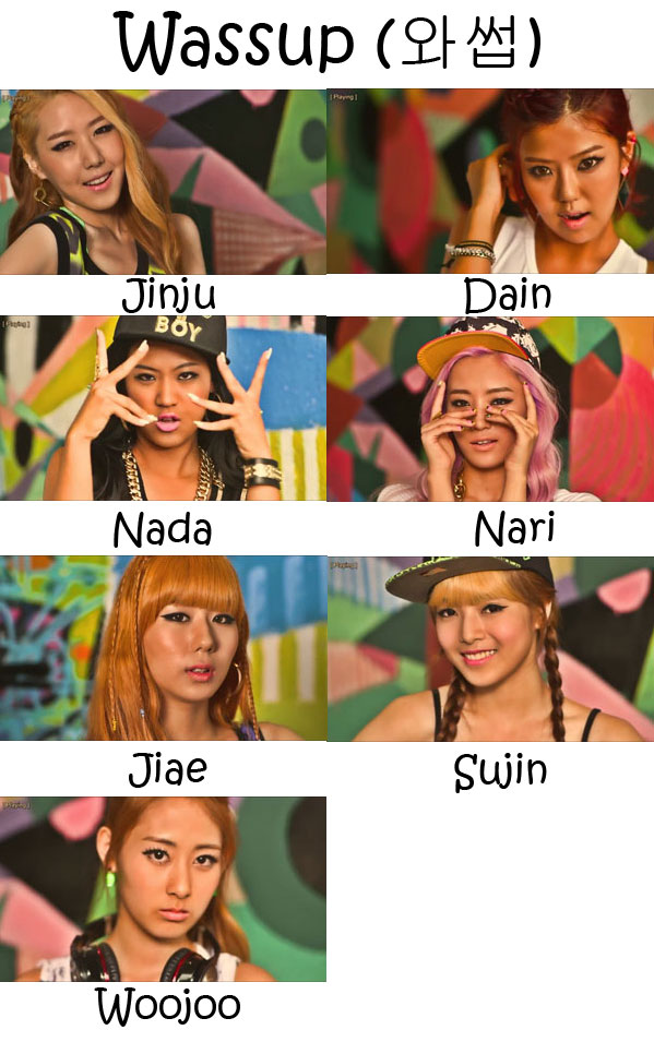 "The members of WA$$UP in the ""Wassup"" MV"