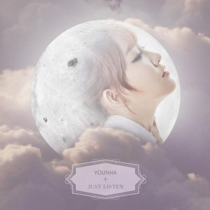 "Album art for Younha's album ""Just Listen"""