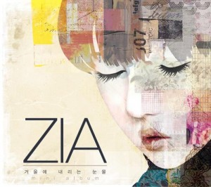 "Album art for ZIA's album ""Faling Tears In Winter"""