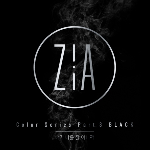 "Album art for Zia's album ""Black"""