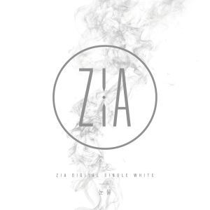 "Album art for ZiA's album ""White"""