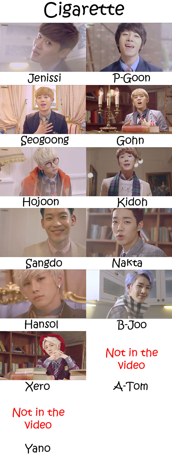 "The members of Topp Dogg in the ""Cigarette"" MV"
