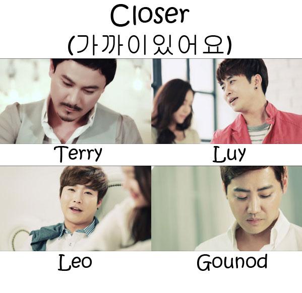"The members of Incielo in the ""Closer"" MV"