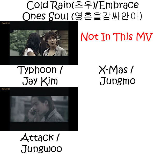 "The members of TRAX in the ""Cold Rain / Embrace One's Soul"" MV"