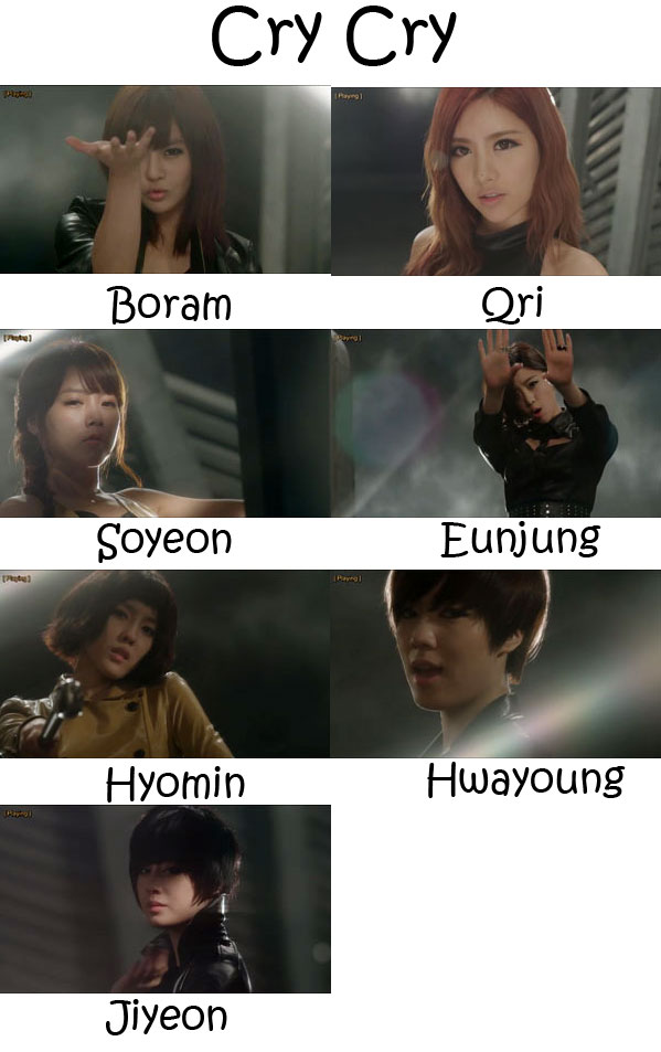 "The members of T-Ara in the ""Cry Cry"" MV"