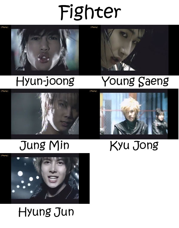 """The members of SS501 in the """"Fighter"""" MV"""