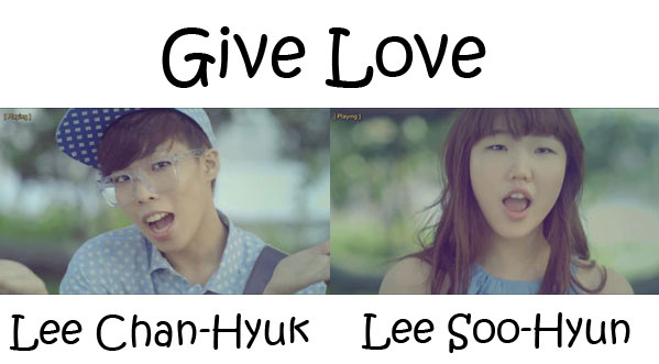 "The members of Akdong Musician in the ""Give Love"" MV"