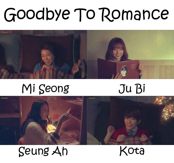 "The members of Sunny Hill in the ""Goodbye To Romance"" MV"