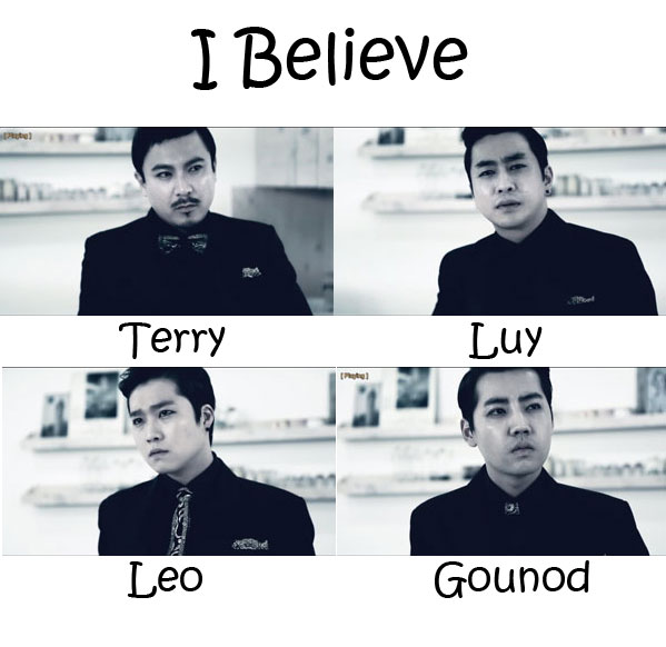 "The members of Incielo in the ""I Believe"" MV"