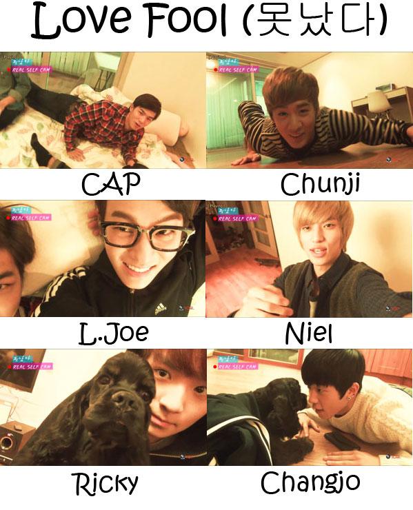 "The members of Teen Top in the ""Love Fool (Real Self)"" MV"