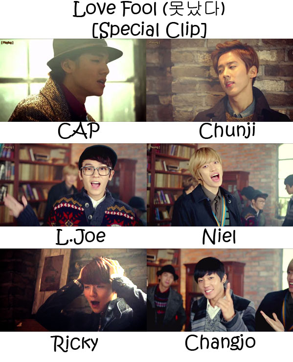 """The members of Teen Top in the """"Love Fool (Special Clip)"""" MV"""