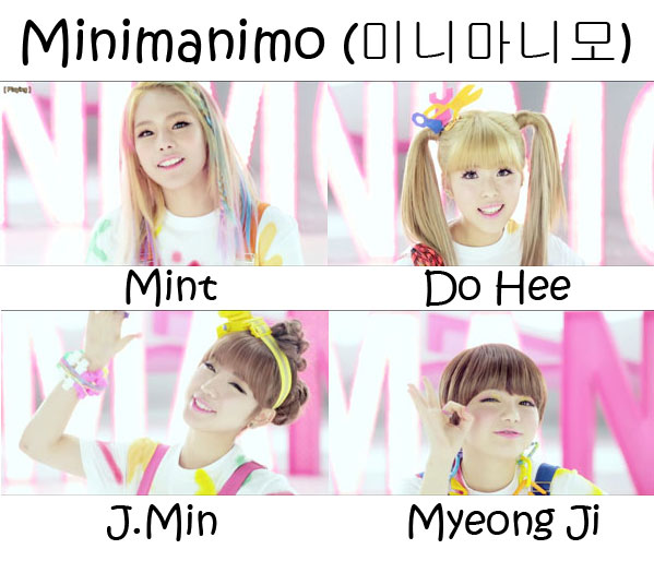 "The members of Tiny-G in the ""Minimanimo"" MV"