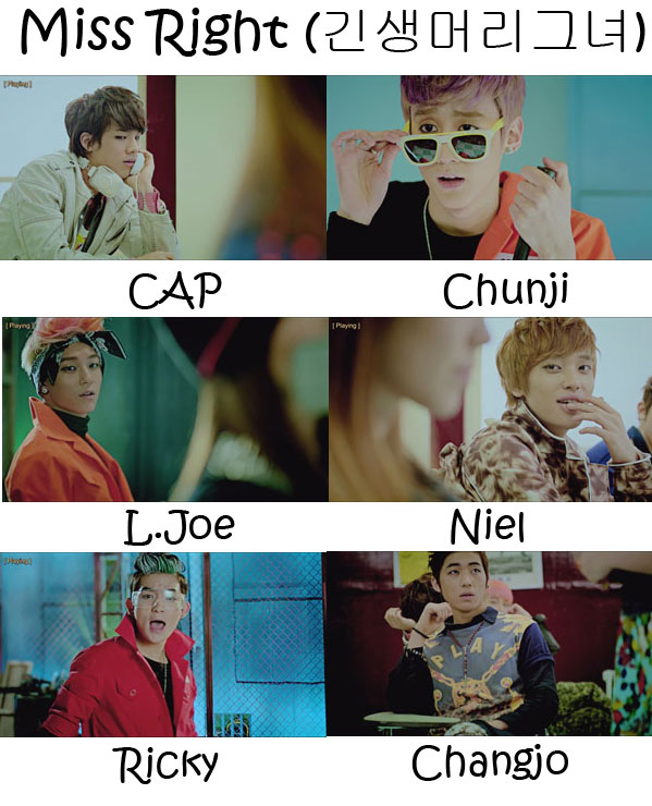 The members of Teen Top in the  Miss Right  MV  sc 1 st  KpopInfo114 - WordPress.com & Teen Top Miss Right Whou0027s Who | KpopInfo114