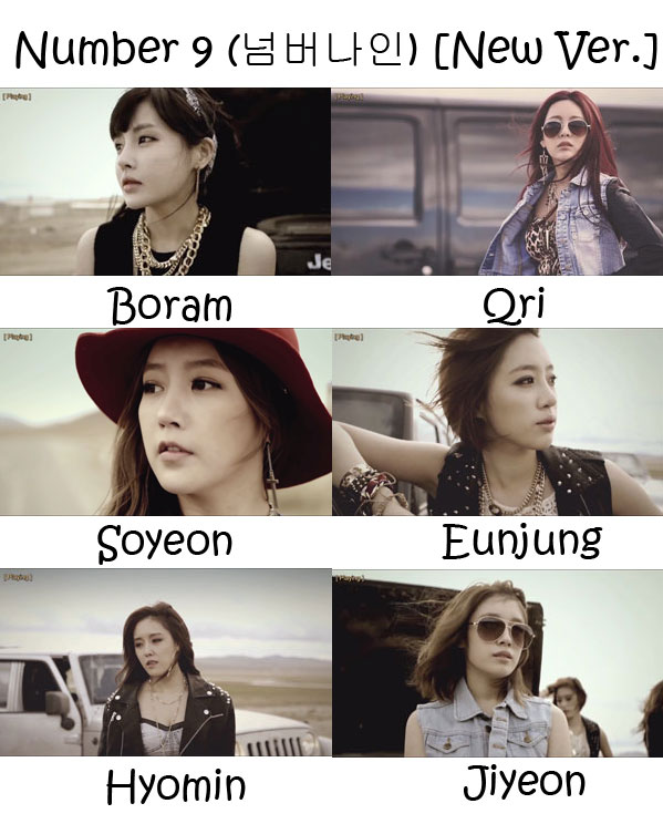"The members of T-Ara in the ""Number 9 (New Version)"" MV"