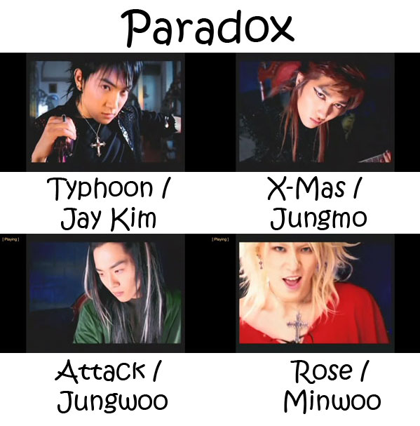 "The members of TRAX in the ""Paradox"" MV"