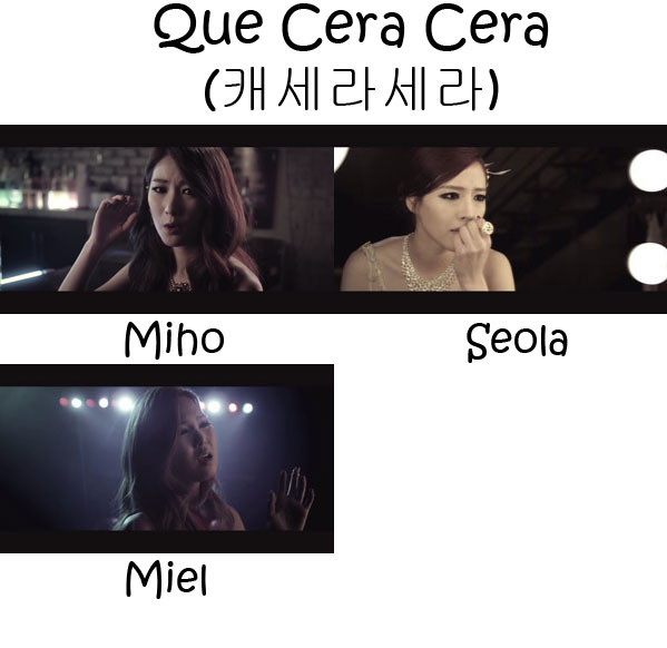 "The members of Bay.B in the ""Quecera Cera"" MV"