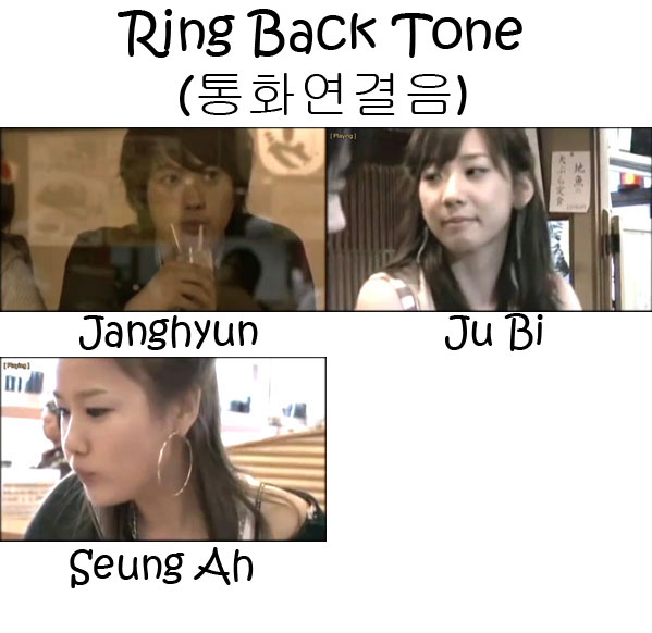 "The members of Sunny Hill in the ""Ring Back Tone"" MV"