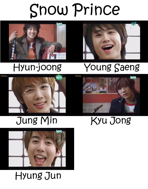"The members of SS501 in the ""Snow Prince"" MV"