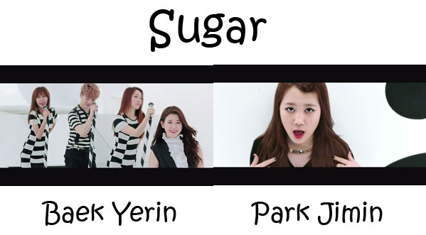 "The members of 15& in the ""Sugar"" MV"